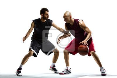 Basketball-Spieler, isoliert auf weiss