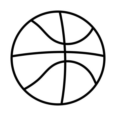 basketball sport balloon line style icon