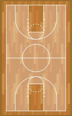 Basketball wooden court sport game