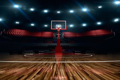 Bild Basketballplatz.
