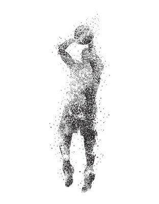 Bild Basketballspieler, Silhouette