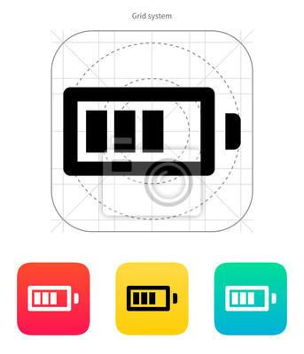 Batterieladung Symbol. Vektor-Illustration.