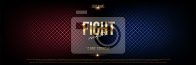 Bild Battle banner vector concept. Fight night competition illustration with glowing versus symbol. Night club event promotion. MMA, wrestling, boxing fight poster