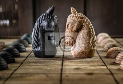 Bild Battle of Wooden Chess Horse