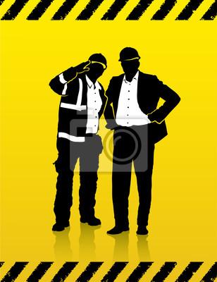Bauarbeiter und Manager auf der Baustelle