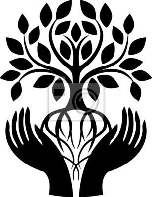 Baum Des Lebens Leinwandbilder Bilder Pflanzung Menschlichen Hand