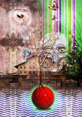 Baum in der Nacht seltsame