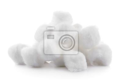 Bild Baumwolle auf weißem Hintergrund
