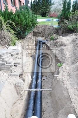 Baustelle Rohrverlegung
