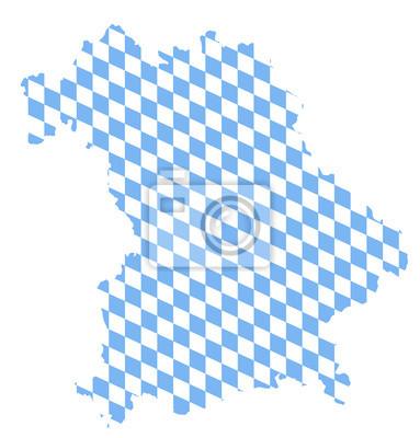Karte Bayern.Bild Bayern Karte Rauten Blau