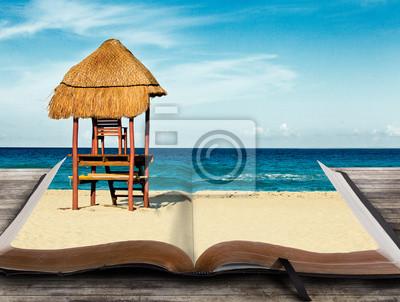 Beach-Szene in Buch