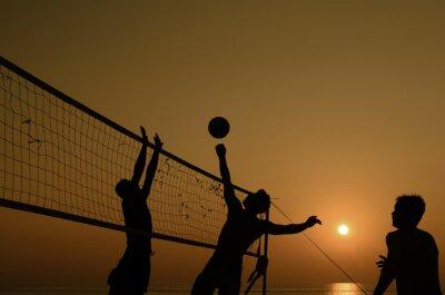 Bild Beach-Volleyball-Silhouette