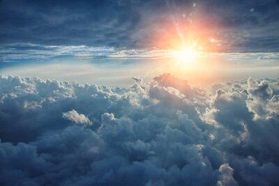 Bild Beautiful blue sky background with clouds