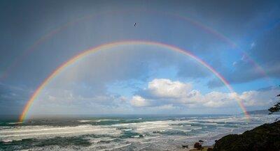 Bild Beautiful double rainbow over the ocean off the oregon coast