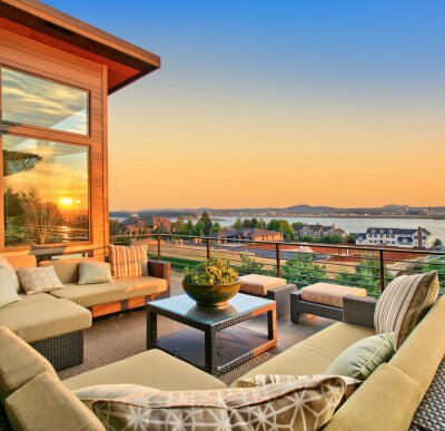 Bild Beautiful Home Patio mit Sunset View