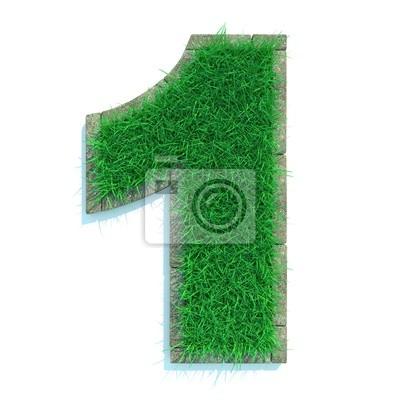 Beautiful Spring Zahlen aus Gras mit Border Umgeben