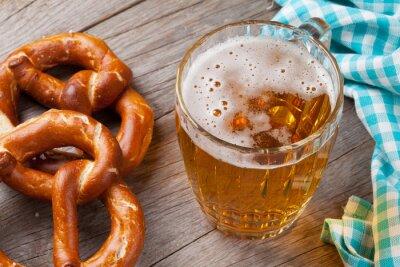 Bild Beer mug and pretzel