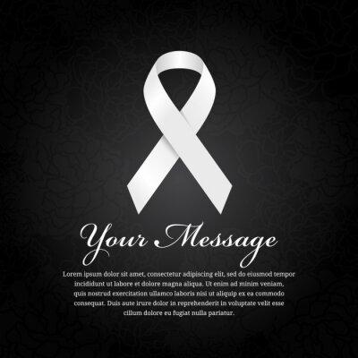 Beerdigung Karte.Bild Beerdigung Karte White Ribbon Und Platz Für Text Auf Weichen