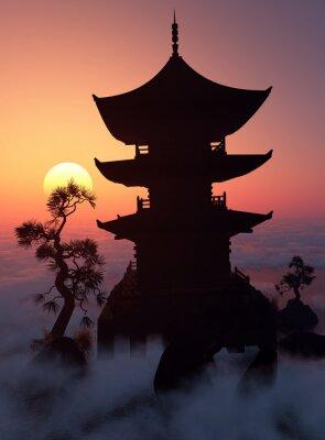 Bild Bei Sonnenuntergang.