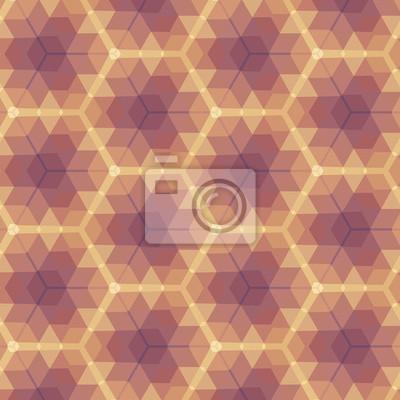 Beige Violet Geometric Pattern.