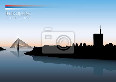 Belgrad Skyline - Vektor-Illustration