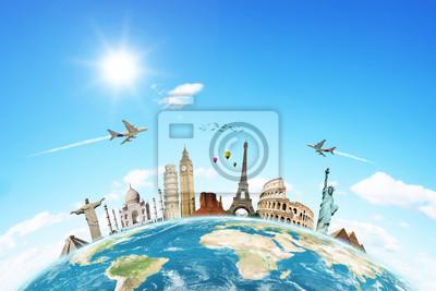 Bereisen Sie die Welt Denkmäler Konzept 2