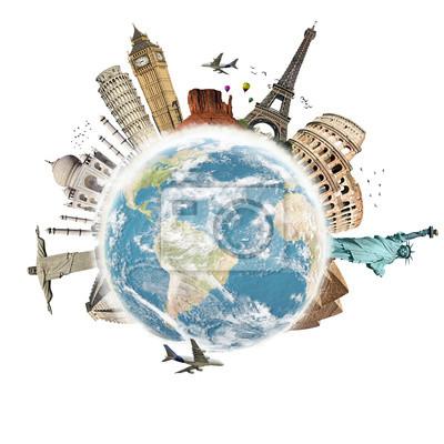 Bereisen Sie die Welt Denkmäler Konzept 3
