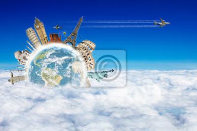 Bereisen Sie die Welt Denkmäler Konzept 4