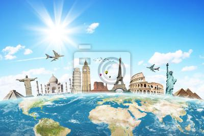 Bereisen Sie die Welt Denkmäler Konzept