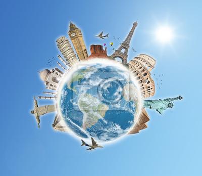 Bereisen Sie die Welt Denkmäler Konzept 5