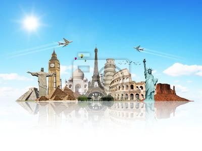 Bereisen Sie die Welt Denkmäler Konzept 7