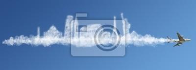 Bereisen Sie die Welt Wolken Konzept