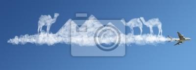 Bereisen Sie die Welt Wolken Konzept: Ägypten