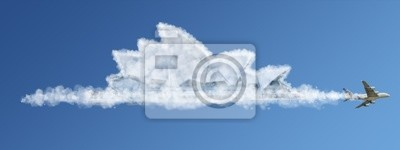 Bereisen Sie die Welt Wolken-Konzept: Australien