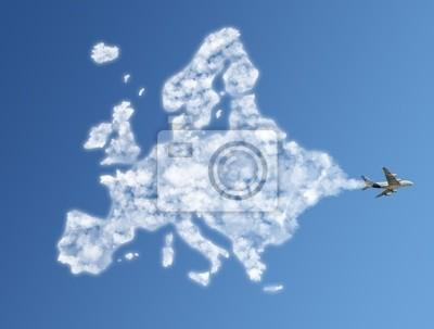 Bereisen Sie die Welt Wolken-Konzept: Europa