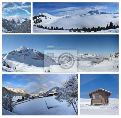 Berg Collage lanscape von Schnee bedeckt (alp Frankreich)