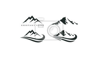 Bild Berggipfel-Logo-Vorlage
