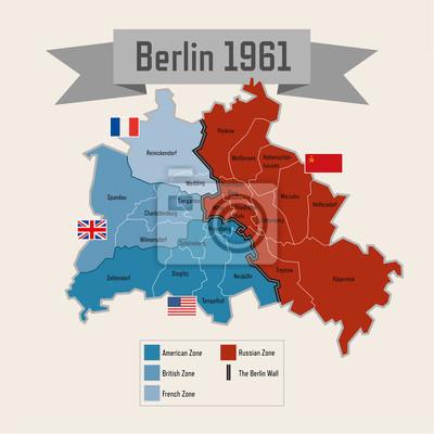 Kalter Krieg Karte.Bild Berlin Deutschland Kalter Krieg Mit Zonen