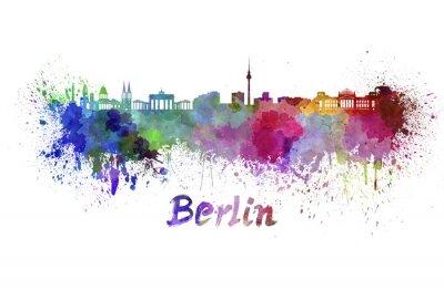 Bild Berlin skyline in watercolor