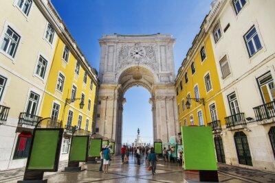 Bild berühmte Bogen der Augusta Straße in Lissabon