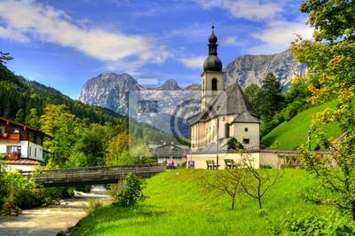 Bild Berühmte Wahrzeichen Ramsau in Berchtesgaden - Bayern / Deutschland