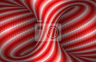 Beweglicher spiralförmiger hyperboloider Hintergrund.  Abbildung der optischen Täuschung des Vektors.