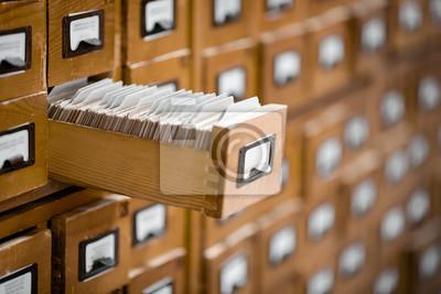Bild Bibliothek oder Archivkatalog. Datenbank, Wissensbasis Konzept.