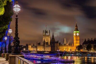 Bild Big Ben and Westminster Bridge at night, London, UK