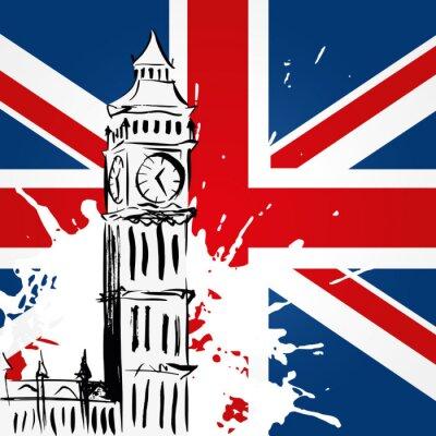 Bild Big Ben Devant l'Union Jack