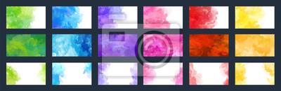 Bild Big bundle set of bright vector colorful watercolor background for poster, brochure, card or flyer