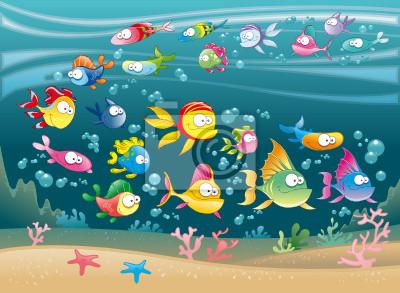Big Family of Fish im Meer
