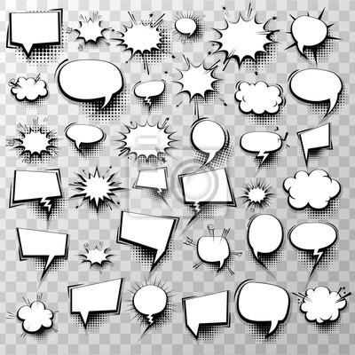 Big-set 36 leere effekte vorlage comic sprechblasen halbton-dot ...