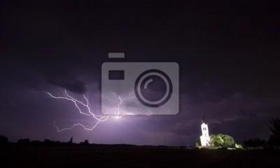 Big Sturm Wiht Kirche