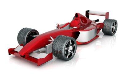 Bild Bild roten Sportwagen auf weißem Hintergrund